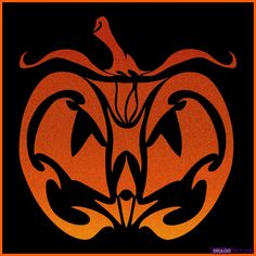 How to Draw a Tribal Pumpkin Face, Step by Step, Halloween ...