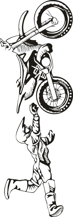 LARGE Motocross Vinyl Decal Wall Sticker Wall Tattoo by Tibi291