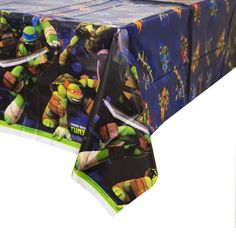 """Teenage Mutant Ninja Turtles Tablecover, 54"""" x 84"""", 1 Ct"""