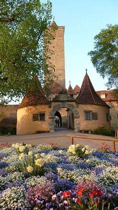 City gate -Burgtor, Rothenburg ob der Tauber, Germany