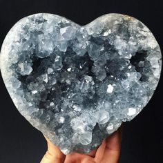 Oh Celestite you have my heart! See what I did there? I can't believe it but this piece is still available in the shop..  by able_ground