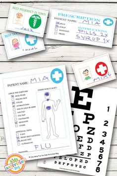 Pretend Play Kids Printables Let's open up a doctor's office with these fun Doctor Pretend Play printables!Let's open up a doctor's office with these fun Doctor Pretend Play printables! Printable Activities For Kids, Kindergarten Activities, Preschool Activities, Free Printables, Time Activities, Reggio, Dramatic Play Centers, Doctor Office, Child Life