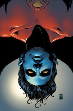 X MEN – NIGHTCRAWLER: Son of Mystique. Former leader of Excalibur and a former Catholic priest. Powers: Neomorphic physiology grants him a prehensile tail, blue fur, invisibility in shadows, night vision, and wall-crawling. Possesses line-of-sight teleportation.