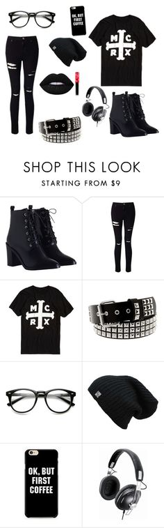 """""""❤️❤️"""" by roguecookie ❤ liked on Polyvore featuring Zimmermann, Miss Selfridge, Panasonic, Lime Crime, emo, mcr and mychemicalromance"""