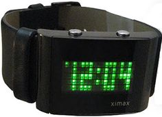 LED Dot Matrix Display Watch Cool Gadgets, Cool Watches, Apple Watch, Dots, Display, Led, Cool Stuff, Clothing Accessories, Rave