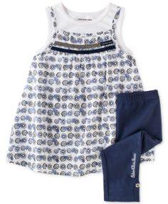 Calvin Klein Little Girls' 2-Piece Tunic & Capris Set | macys.com