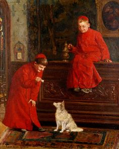 Paul-Charles Chocarne-Moreau (French, 1855-1931) — Altar boys  (1006x1260)