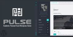 Pulse - Academic / Personal Vcard WordPress theme . PULSE is a responsive academic personal wordpress theme with Sliding Horizontal Layout , You can have an excellent online academic / personal resume with home, resume , skills , services , pricing , publications , research , teaching , portfolio etc, PULSE layout is horizontal on desktop screens