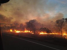 Bushfire on the Gulf Developmental Road, Corydon in the vicinity of 'Old Glenore' about 40km east of Normanton Photo by SC Roland Lawrence
