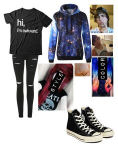 """""""date with jason♥"""" by teal-lerker ❤ liked on Polyvore featuring Topshop and Converse"""