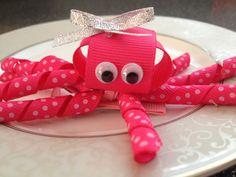 Pink Octopus Hair Clip  Baby Hair Clip  Ribbon by katelynnskloset, $5.95