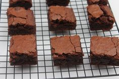 Best Chewy Brownies made from scratch using cocoa powder! My family LOVES these!