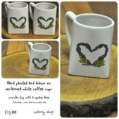 wstoreyshop - original and hand-painted reclaimed coffee cups