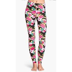 H&M Tropical Floral Leggings Worn once. In excellent condition. No flaws. Size M. No Paypal. No trades. 10% discount on all bundles made with the bundle feature. No offers will be considered unless you use the make me an offer feature.     Please follow  Instagram: BossyJoc3y  Blog: www.bossyjocey.com H&M Pants Leggings
