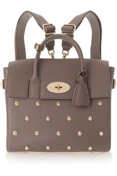 Mulberry + Cara Delevingne studded leather backpack   NET-A-PORTER