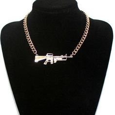 Cheap silver men necklace, Buy Quality female necklaces directly from China fashion necklace Suppliers: Accessories fashion star metal heavy rihanna pistol scatter-gun necklace female necklace Popular gold and silver Man necklace Crystal Bralette, Crystal Choker, Pearl Choker, Necklace Types, Men Necklace, Fashion Necklace, Short Necklace, Fashion Jewelry, Silver Ankle Bracelet