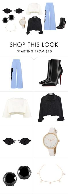 """""""these pants"""" by carolinecorradine on Polyvore featuring Off-White, Christian Louboutin, Puma, West Coast Jewelry, StreetStyle and ootd"""