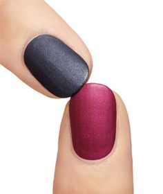 Zoya matte velvet nail polish on fingernails