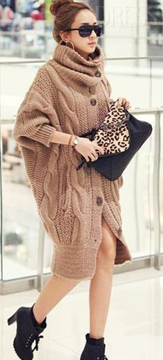 Women Long Knitwear // Simple but fashionable and beautiful ! http://www.dressve.com/shop-10503612.html