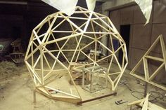 Pictures of domes built using the geo-dome plans