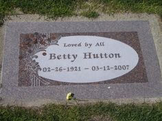"Betty Hutton (1921 - 2007) Actress and singer, starred in ""The Miracle of Morgan's Creek"", ""The Perils of Pauline"", ""Annie Get Your Gun"", ""The Greatest Show on Earth"" and other movies"