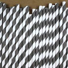 Black Paper straws Party Rock, Paper Straws, Black Paper, Princess Party, Black Stripes, Black And White, Dessert Table, Reception, Parties