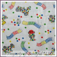 BonEful FABRIC FQ Cotton Woven Retro VTG Antique Bubble Gum Machine Lg Candy Dot