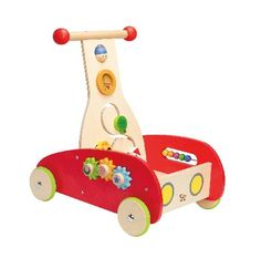 Hape Wonder Walker Hapes Wonder Walker is a balanced walker that provides a sturdy base for pulling up and a unique design that makes pushing a breeze. Moveable knobs gears and colourful balls turn it into a busy-box on http://www.MightGet.com/january-2017-12/hape-wonder-walker.asp