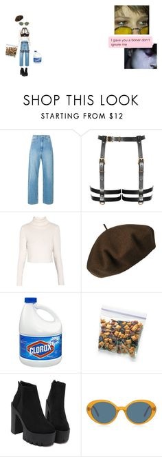 """""""oml my boyfriend doesn't wear jeans , so i do."""" by henrry ❤ liked on Polyvore featuring Étoile Isabel Marant, Morgan, Betmar, Oliver Peoples, Bordelle and boyfriendjeans"""