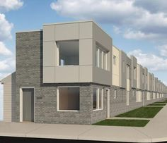The Philadelphia Housing Authority (PHA) officially broke ground on the Oakdale Street Apartments in Strawberry Mansion yesterday. A vacant lot will be replaced by 12 modern-looking, gray-toned. City Hall Station, Town House, Philadelphia, Apartments, Mansions, Watch, Street, House Styles, Modern