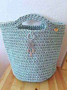 REJAdekor / TOTE BAG svetlý mentol Straw Bag, Tote Bag, Crochet, Bags, Fashion, Handbags, Moda, Fashion Styles, Totes