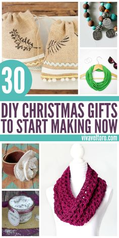 I love handmade gifts! 30 DIY Christmas Gifts that you should start making now.