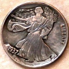 JON DAKE - WALKING LIBERTY - 1937 BUFFALO NICKEL Coins Worth Money, Hobo Nickel, Coin Worth, Buffalo, Classic Style, Liberty, Walking, Political Freedom, Freedom