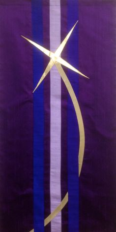 Advent Shooting Star Parament of silk dupioni and gold lame'.