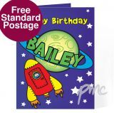 Personalised Space Card