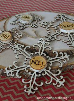 Wood Burned Snowflakes Christmas Decor and Christmas Ornaments