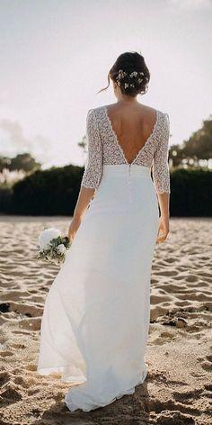 Fascinating Open Back Wedding Dresses ★ See more: https://weddingdressesguide.com/open-back-wedding-dresses/ #bridalgown #weddingdress