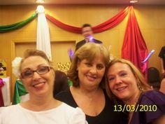 Marizilda, Malu e Gabriela no Jantar Italiano no Center Norte em SP.