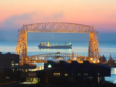 Ariel Lift Bridge, Duluth, Minnesota. An attainable trip ... right up the road! So much to see and do.