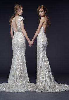 Priya and Pheobe – Vera Wang Fall 2015 Collection. www.theweddingnotebook.com