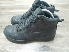 new arrival 7e692 07383 Nike ACG Men s Size 12 Manoa Leather Work BOOTS Shoes Black  fashion   clothing