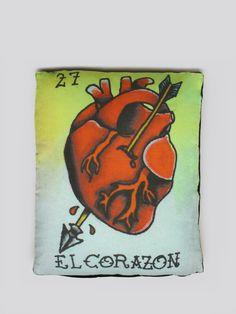 El Corazon Pillow #gypsyinteriors