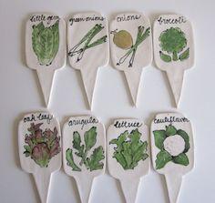 Ceramic Garden Markers