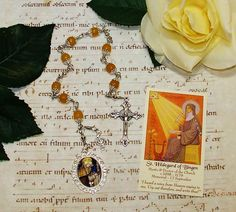 St. Hildegard of Bingen Unbreakable Catholic Chaplet - Mystic and Doctor of the Church - Writer, Visionary Artist, Music Composer by foodforthesoul on Etsy
