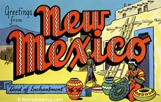 Greetings from New Mexico Postcards | RetroAmerica