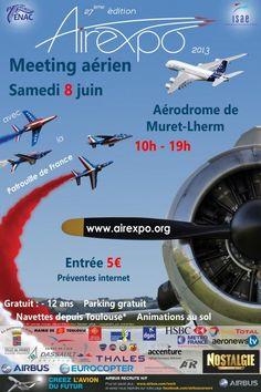 Air Expo, meeting aérien 2013 à Lherm. Le samedi 8 juin 2013 à Lherm.