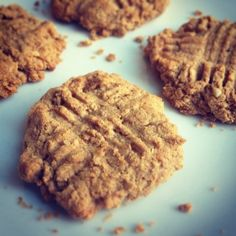 Ripped Recipes - Peanut Butter Protein Cookies - Peanut butter protein cookies - crunchy and crumbly and you only need 4 ingredients!