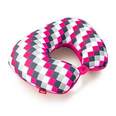 Heys - PInk Checker 2 in 1 Travel Pillow - Luggage and Leather