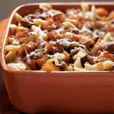 Roasted Butternut Squash and Bacon Pasta.  Of course, anything with bacon is great, but this is really yummy!