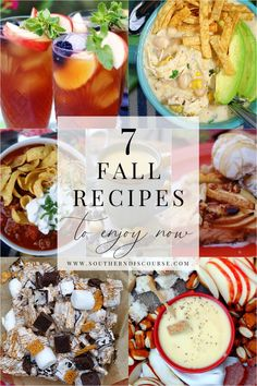 Southern Dishes, Fall Drinks, Little Falls, Fall For You, Southern Comfort, Early Fall, Recipe Collection, Fall Recipes, Family Meals